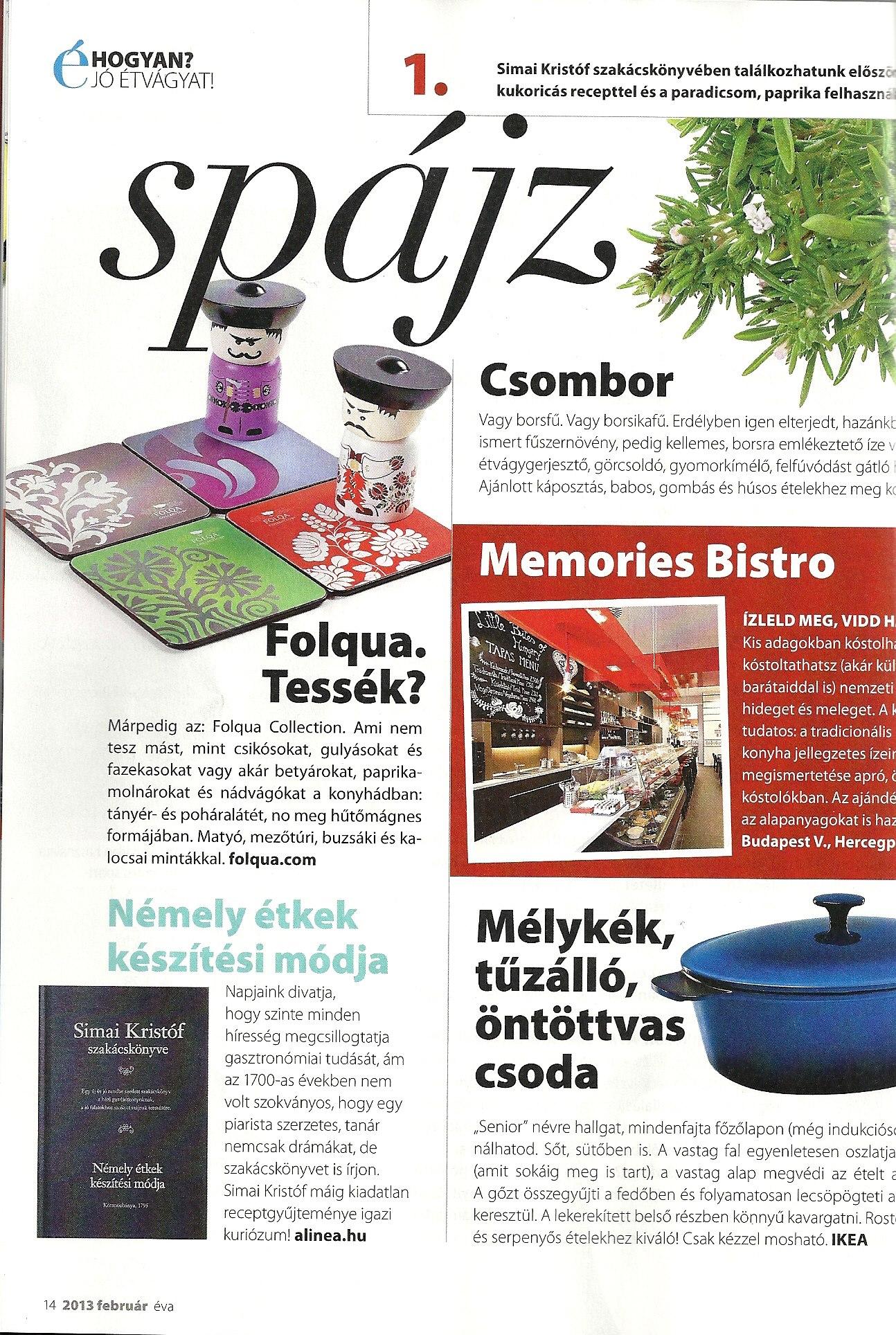 ÉVA Magazin Folqákról