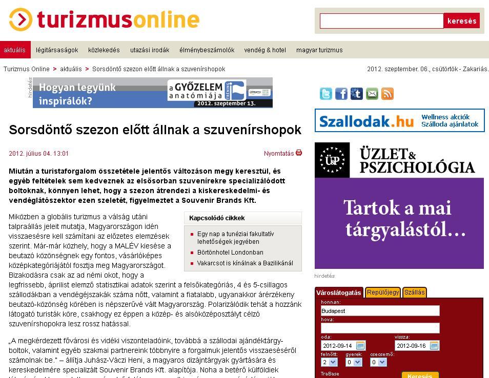 Turizmus online