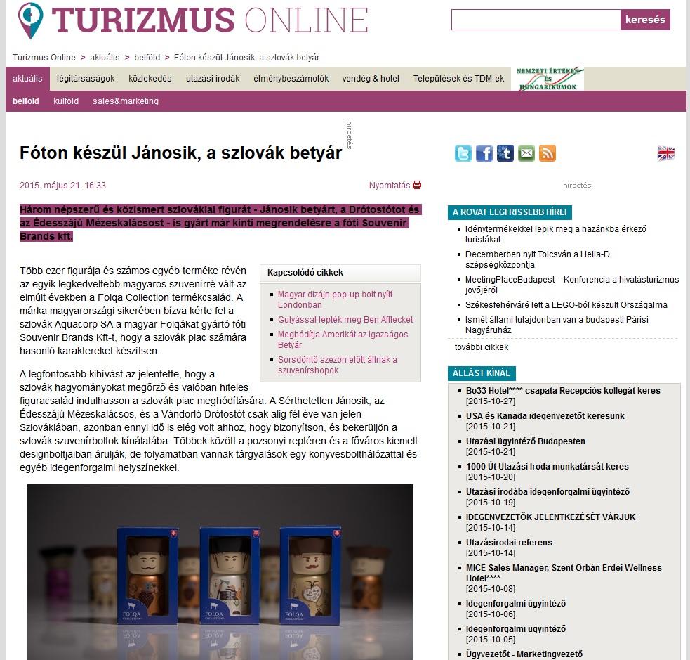 Turizmusonline a szlovák Folqáról